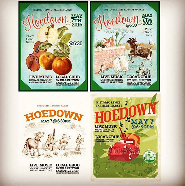 Farmer Market Hoedown Design Comps