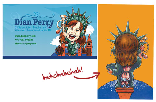 Dian Perry Voice Over Coach Business Card Design