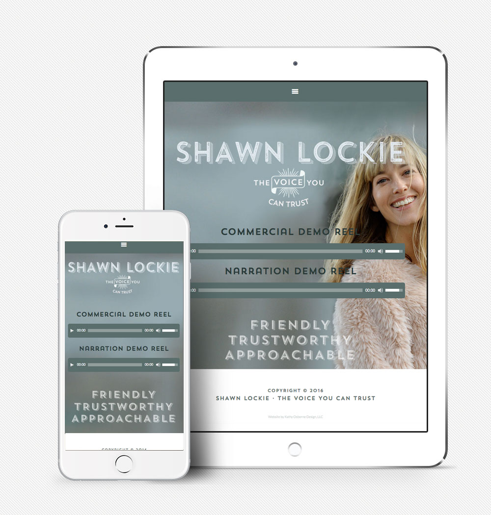Web Design for Shawn Lockie VoiceOver