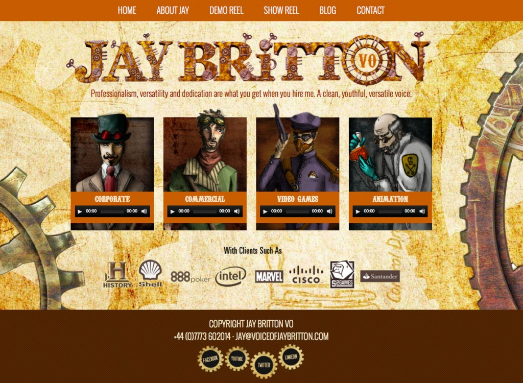 Jay Britton Voice Over Website