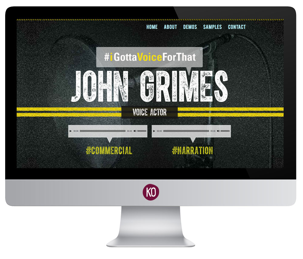 Bold, Edgy, Textured Voice over Website design