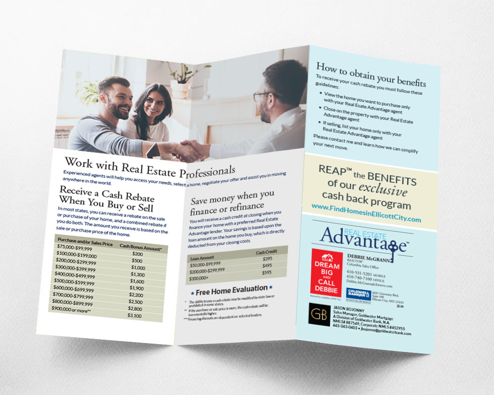 Real Esate Trifold Graphic Design