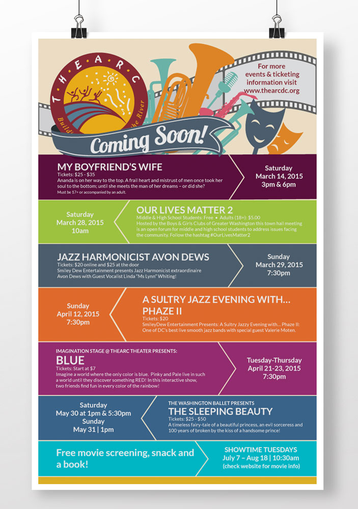 Music and Art Events Poster Graphic Design