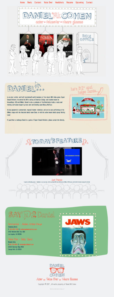 Daniel MK Cohen Actor Website Design