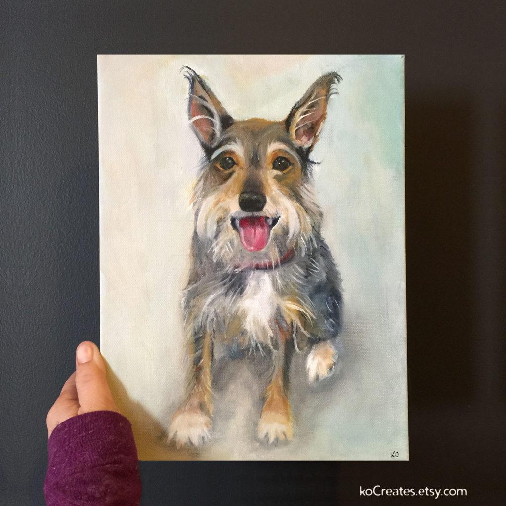 Miniture Schnauzer Dog Patining