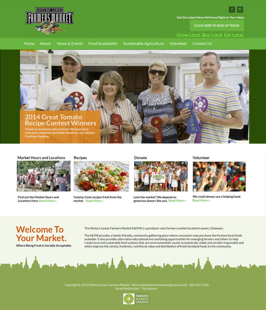 Farmers Market Website Design