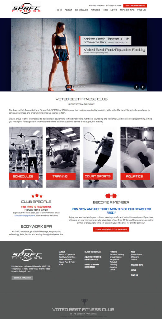 SPRFC Gym Website Design
